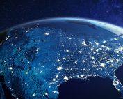 United States at night